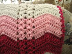 Ravelry: White Chocolate Strawberry Double Shell Ripple pattern by Roseanna Beck