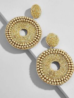 These sunflower earrings are simply outstanding. This gold dangle with diamond earrings each have unique setting that makes the piece unforgettable . These drop bridal earrings deserve evening wear such a glamorous wedding, or special event. Bridal Earrings, Beaded Earrings, Statement Earrings, Hoop Earrings, Geode Jewelry, Jewelry Box, Jewelry Making, Jewellery, The Bling Ring