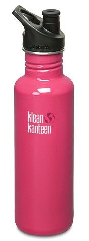 Klean Kanteen - Stainless Bottle 27oz w/ 3.0 Sport Cap - Pink Anemone. Perfect for on the go. Offers a higher flow rate and a sport cap. Only need to fill up once to stay hydrated all day.