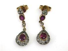 Ruby and Diamnd Earrings