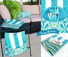 ScrapBusters: Outdoor Mini Mats   Sew4Home