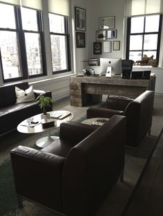 Flatiron, NYC - CEO's office // I hate the desk, but the sitting area is nice.