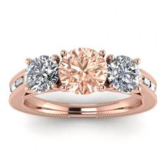 Piece Info: - 14K Rose Gold - Comfort Fit - Hypoallergenic, Cobalt-Free - Sleek Design - Durable - Comes in a Gift box #14k #Rose #Gold #Capri #3 #Stone #Morganite #And #Diamond #Baguette #Ring #Baguette #Accents #Milgrain #Bezel #Accents3 #Stone #Engagement #Ring #14k #morganite #ring #18k #morganite #ring #rose #gold #engagement #wedding #ring #engagement #ring #rose #gold #morganite #morganite #ring #morganite #engagement #leaves #engraving #baguette #accents #milgrain #bezel #accents #3 Baguette Engagement Ring, Baguette Ring, Baguette Diamond Rings, Three Stone Engagement Rings, Morganite Ring, Morganite Engagement, Pink Tourmaline, Wedding Ring Bands, Diamond Shapes
