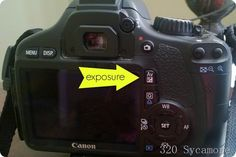 photography tip: exposure button