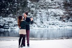 Winter Engagement Session - Hudson Valley NY