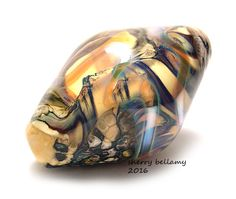 sherry bellamy lampwork starlight shipwreck barrel bead set sra beads