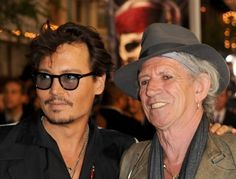 Johnny Depp and Keith Richards at event of Pirates of the Caribbean: On Stranger Tides