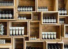 Loving the shelving (and products) at the new Aesop store on Fillmore Street