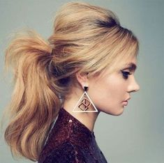 Easy ponytail hairstyles for long hair #high #messy