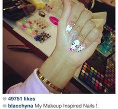 blac chyna makeup nails