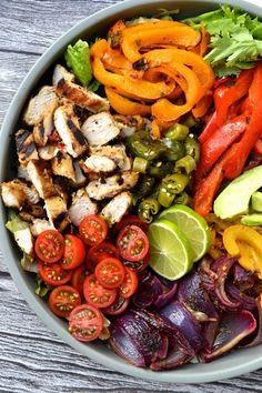 Chicken Fajita Salad | Every Last Bite