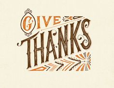 Give Thanks Print by: clairice gifford