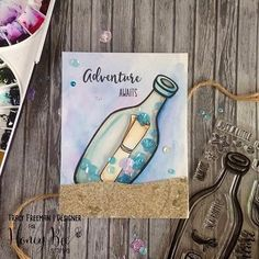 #Repost @inkyfingersandribbon ・・・ I'm over on the @honeybeestamps YouTube Channel today showing one of the gorgeous new releases and how I created this shaker card #linkinbio also make sure you check out the @honeybeestamps social media all week for sneak peeks of the new release. #honeybeestamps #stamping #cardmaking #cardmakersofinstagram #shakercards #mijellomissiongold #cardmakingtutorial #newstamps #adventure