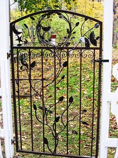 Garden gates from my shop Metal Gate Garden Gate Single Iron Gate Wrought Iron Garden Gates, Garden Gates And Fencing, Wrought Iron Decor, Metal Gates, Garden Art, Garden Design, Fence Design, Garden Paths, Hillside Garden
