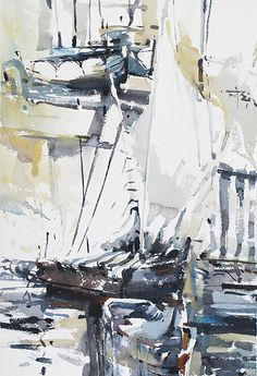 Tony Belobrajdic , Summer Showers series of watercolours on ArtStack #tony-belobrajdic #art
