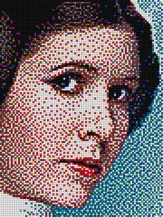 Principessa Leila - Star Wars with Pixel Art Quercetti