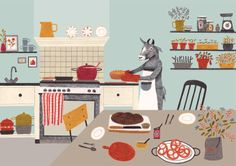 Liekeland Cafe Helene Illustratie by Lieke van der Vorst designer from Netherlands