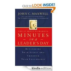 """The 21 Most Powerful Minutes in a Leader's Day"" by John C. Maxwell   (I'm working on this one now.) :)"
