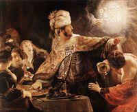 Festa de Belsazar (1635) – National Gallery, Londres: Rembrandt