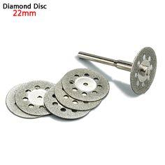 5x22 mét dremel phụ kiện kim cương mài bánh xe saw thông tư thống saw đĩa cắt dremel rotary tool đĩa kim cương cho đá