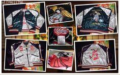 SUKAJAN HOUSTON Reversible bomber jacket (japanese L) Geisha maiko kyoto kimono  #HOUSTON #FlightBomber