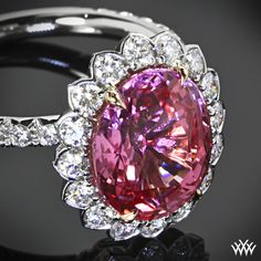 """Sapphire pink  """"Imperial Lotus Padparadscha Halo"""""""