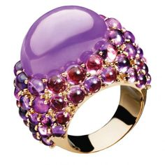 Amethyst and jade ring by Mimi