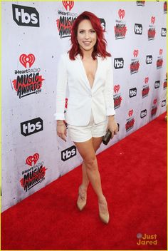 Sharna Burgess Steps Out For iHeartRadio Music Awards with James Maslow
