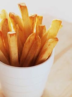 The Best Homemade French Fries - Prepared in just 30 minutes or less, sea salt or other coarse salt gives these easy fried potatoes a pleasing extra layer of texture.