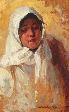 Peasant Woman With White Headscarf 1925 Poster by Vermont Nicolae Female Portrait, Portrait Art, Art Database, Vermont, Wood Print, Impressionism, Great Artists, Art Gallery, Art Prints