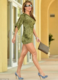 She's got legs: Jennifer Nicole Lee showed off her fabulous form in a green dress over the weekend to celebrate St. Patrick's Day