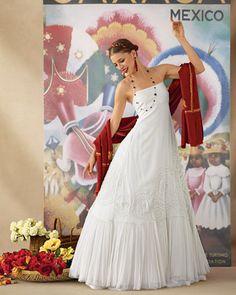Wedding Dress Inspired by Oaxaca, Mexico