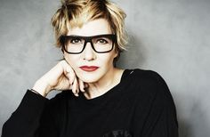 Love the glasses! via The Creative Class   Lori Goldstein, Stylist - The Business of Fashion