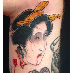 Ichibay Hanya Mask Tattoo, Irezumi, Samurai, Eagle, Japanese, Tattoos, Artist, Masks, Geishas