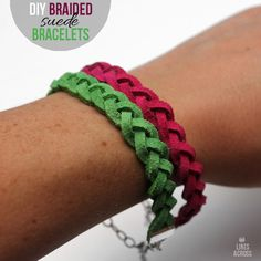 Lines Across: DIY Braided Suede Bracelets