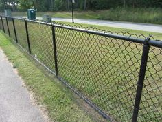 Engrossing Lowes Black Vinyl Chain Link Fence And Vs Galvanized