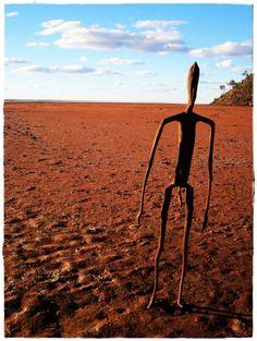 Antony Gormley 'Inside Australia' sculptures, Lake Ballard, Menzies WA Australia
