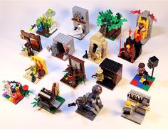 LEGO Ideas - 16 Vignettes For Series 13 Minifigures. What a freakin great idea! I doubt it'll make it to 10K, but I'm saving the link for ideas for displaying my minifigs!