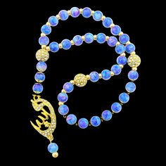 Allah Blue Multi Islamic Rhinestone Prayer Beads Muslim Tasbih Misbaha Religious Spiritual