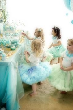 blue and green ballerina party