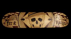 My second skateboard design. Wood burn, wood stain and acrylic paint. Enjoy!    Miss Lady G Skateboard #2 by Miss Lady G, via Behance