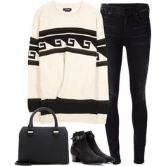 Untitled#2966 by fashionnfacts on Polyvore featuring Isabel Marant, Citizens of Humanity, Yves Saint Laurent and Victoria Beckham