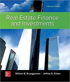 Real Estate Finance & Investments 15th Edition Solutions Manual Brueggeman Fisher free download sample pdf - Solutions Manual, Answer Keys, Test Bank