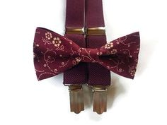 burgundy suspenders and bow tie set for ring bearer burgundy
