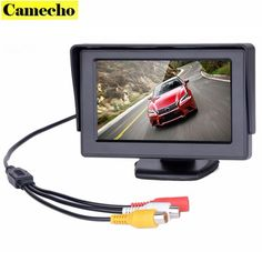 4.3 inch TFT LCD Car Monitor Car Reverse Parking Monitor 2-Channel Video Input For Backup Reverse Camera DVD VCD Car-styling