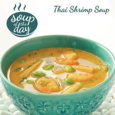 Thai Shrimp Soup Recipe from Taste of Home -- shared by Jessie Grearson-Sapat, Falmouth, Maine