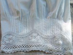 ancienne culotte brodée,vetement epoque,coton,monogramme BL