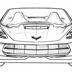 corvet stingray pics to coler corvette car coloring sheet stingray c7 corvette car coloring