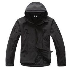 Mens TAD Gear soft shell fleece waterproof jackets