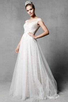 the tulle skirt Watters Brides Farah Gown Style 5010B | Watters.com